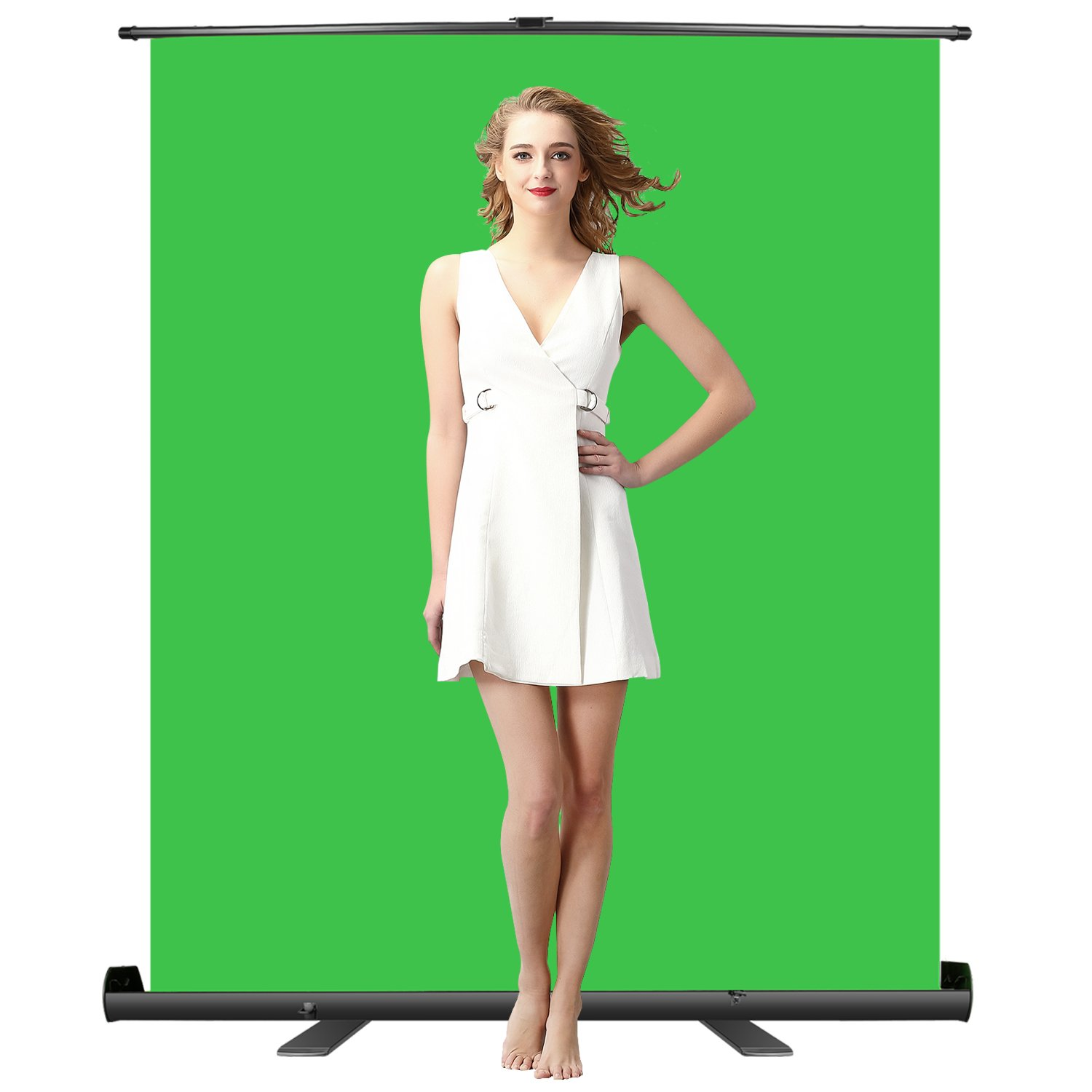 Neewer Green Screen Backdrop, Pull-up Style, Portable Collapsible Chromakey Background with Auto-locking Frame, Wrinkle-resistant Fabric,Solid Aluminium Base, for Photo Video, Live Game,Virtual Studio by Neewer (Image #2)