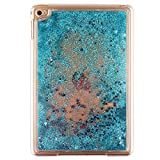 "7.9"" iPad Mini4 Case, MAOOY PC Plastic Rigid Liquid Sparkle Quicksand Cover for iPad Mini 4, Creative Design Flowing Floating Stras Dual-Layer Protective Bumper Shell - Blue"