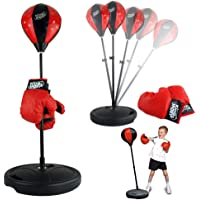 """Liberty Imports Sport Boxing Set Punching Bag With Gloves 