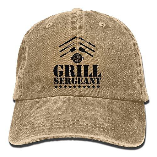 Richard Drill Grill Sergeant BBQ Adult Cotton Washed Denim Leisure Cap Hat Adjustable ()