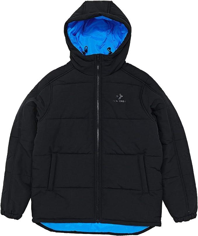 Converse Poly Fill Jacket, Giacca Uomo, Nero Black 001, X