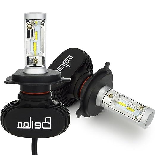 74 opinioni per H4 LED lampadine del faro Kit 8000LM luminosa eccellente 6500K luce bianca delle