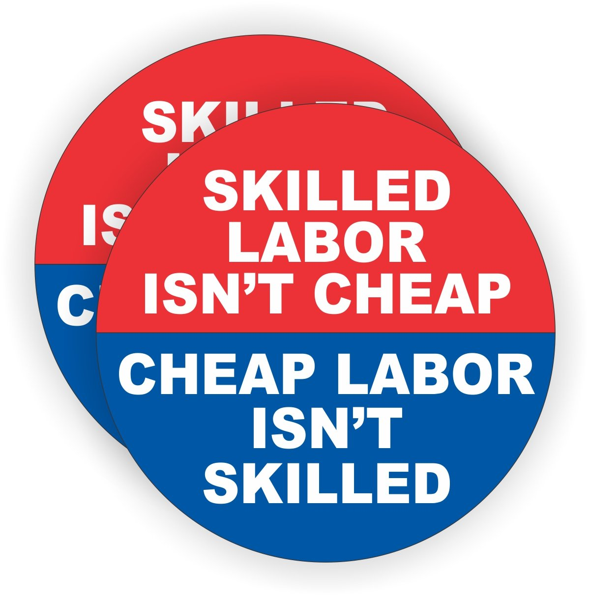 2x skilled labor isnt cheap hard hat stickers funny welding helmet decals motorcycle foreman toolbox labels badges emblems amazon com