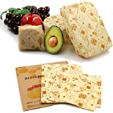 3 Pack Beeswax Food Wraps Washable and Reusable. Excellent Alternative to Single use Plastics. Great for Storage for…