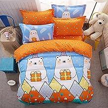 LA MEJOR Queen Size Cotton & Microfiber Polar bear Bedding Set Bed Linens Duvet Cover Sets Without Comforter (Queen, 1 Duvet Cover+2 Pillowcases)