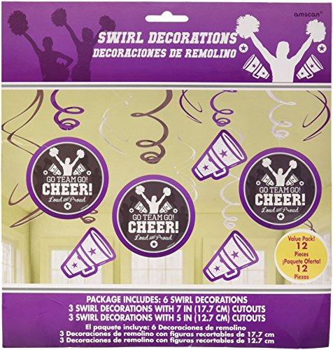 amscan 671576 Spirit Squad Value Pack Swirl Decorations,