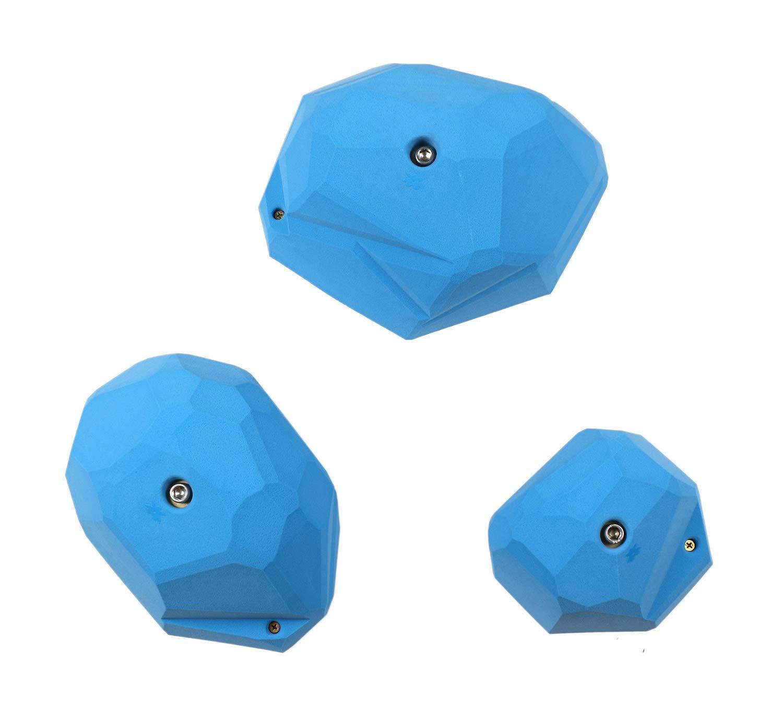 3 XXL ファセットクリーススロープ|クライミングホールド|ブルー   B07LBCCWFD