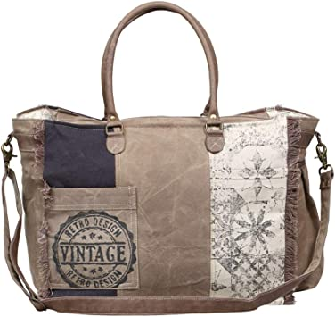 Amazon Com Myra Bag Retro Upcycled Canvas Weekender Bag S 1200 Find new and preloved myra bags items at up to 70% off retail prices. myra bag retro upcycled canvas weekender bag s 1200