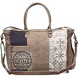 Myra Bag Retro Upcycled Canvas Weekender Bag S-1200