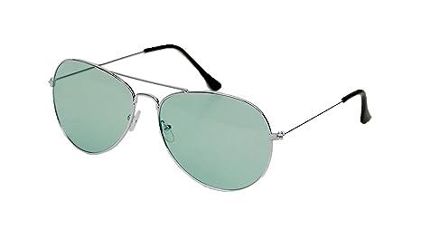 Lunettes de soleil aviateur ASVP Shop® pour homme femme. Mode rétro des années 80, UV400. Unisexe - vert -