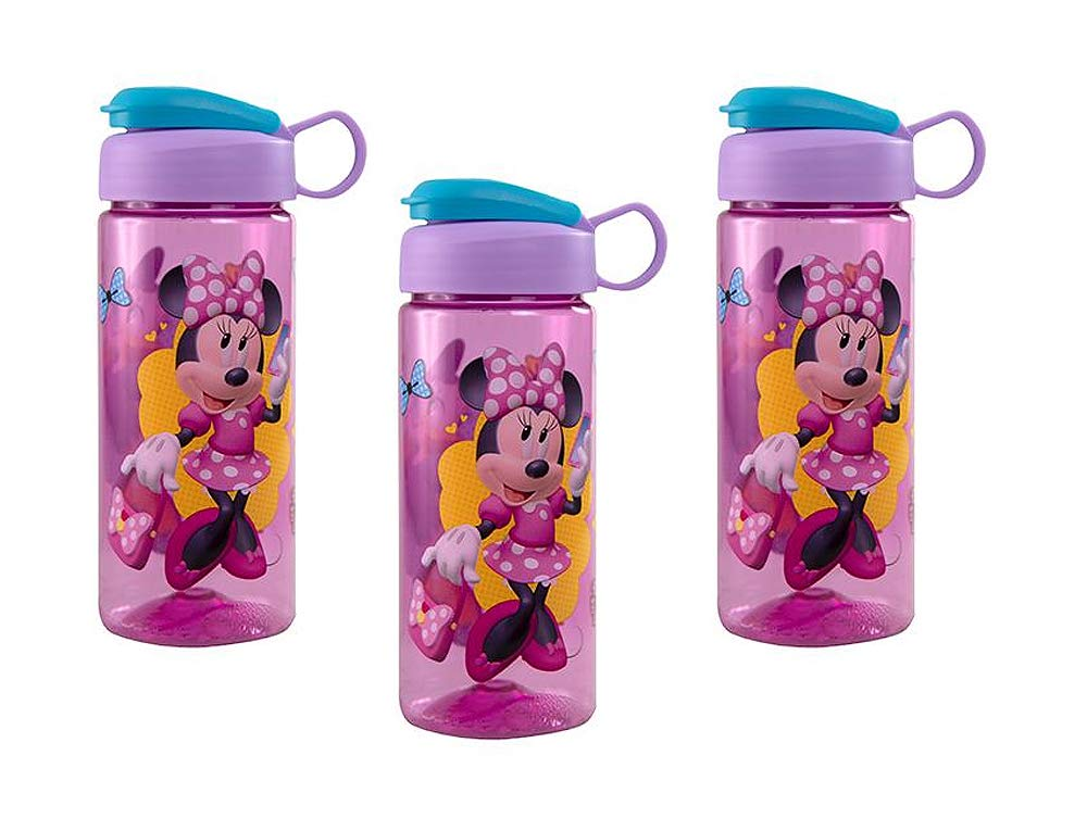 3-Pack Minnie Mouse 16.5oz Kids Sullivan Sports Water Bottle, BPA-Free Disney
