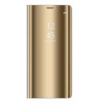Tianyan Funda para Xiaomi Redmi Note 4,Espejo Clear View ...