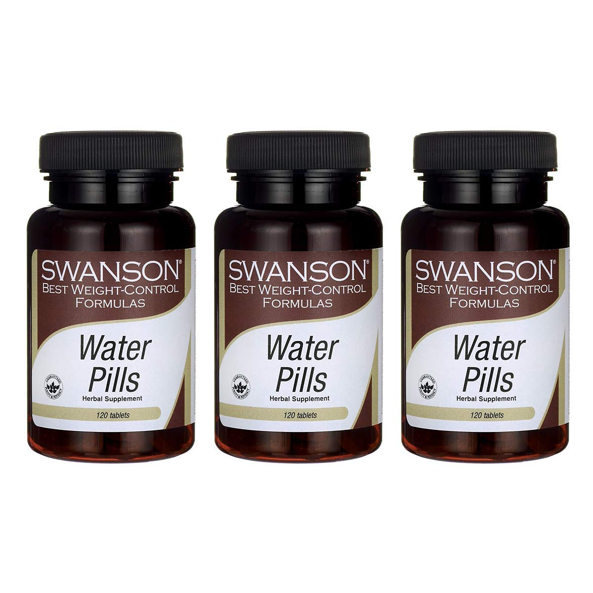 Swanson Water Pills 120 Tabs (3 Pack)