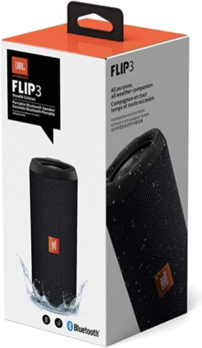 JBL Flip 10 Stealth Edition Waterproof Portable Bluetooth Speaker with Rich  Deep Bass Black