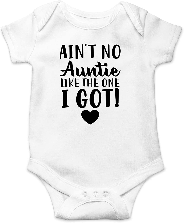Funnwear Ain't No Auntie Like - My Aunt is The Best - Funny Cute Infant Boy Girl Romper, One-Piece Bodysuit