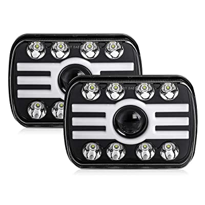 CO LIGHT 2pcs 2020 New 5x7 Inch LED Headlights 116W 7x6'' Sealed Beam Angel Eye DRL Handlamp for Jeep Wrangler YJ XJ Cherokee H6054 H5054 H6052 H6053: Automotive