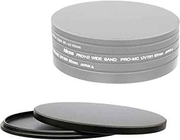 Aluminum 58mm Screw-in Filter Stack Cap for Lens Filter Protection Storage Case