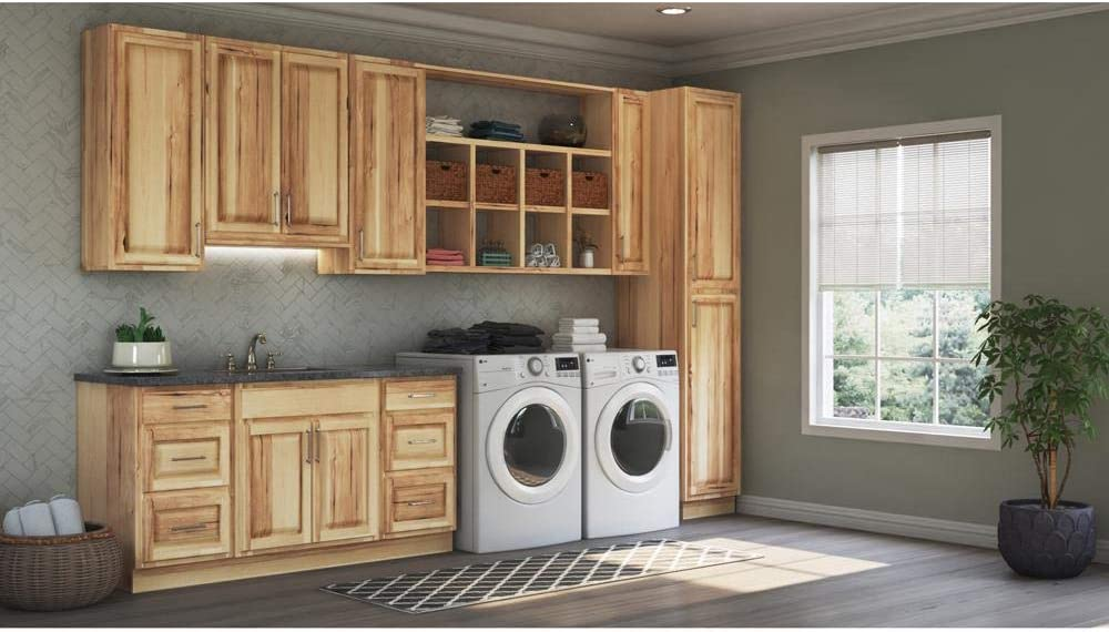 Amazon Com 15x42x12 In Hampton Wall Cabinet In Natural Hickory Kitchen Dining