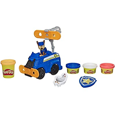 Play-Doh Paw Patrol Rescue Rolling Chase Toy Police Cruiser Figure & Vehicle Set with 4 Non-Toxic Colors: Toys & Games