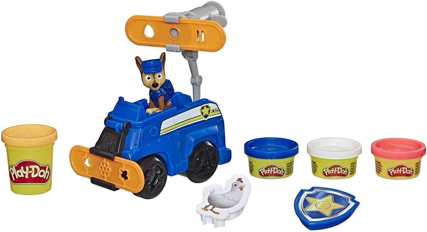 Play-Doh Paw Patrol Rescue Rolling Chase Toy Police Cruiser Figure   Vehicle Set with 4 Non-Toxic Colors