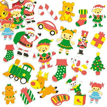 Santas Workshop Foam Stickers For Children To Decorate Christmas Crafts And Cards Pack Of 100
