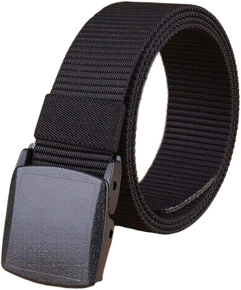 Bansga Cinturón táctico militar Hombres Hebilla metálica Espesar Cinturones de lona de nylon para hombres