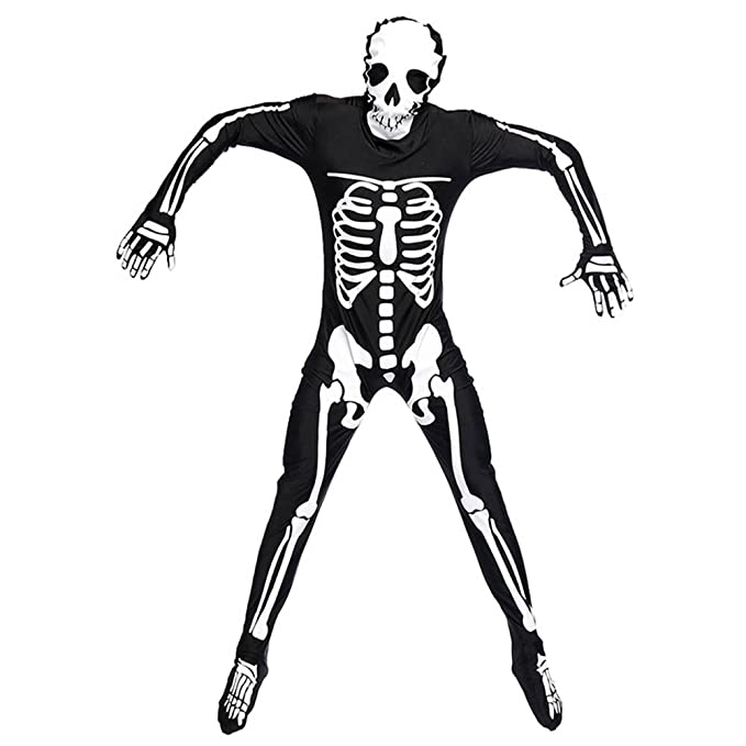 Hombre Esqueleto De Halloween Disfraces De Terror Amazones Ropa y
