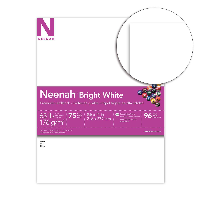 Amazon.com : Neenah Bright White Cardstock, 8.5\