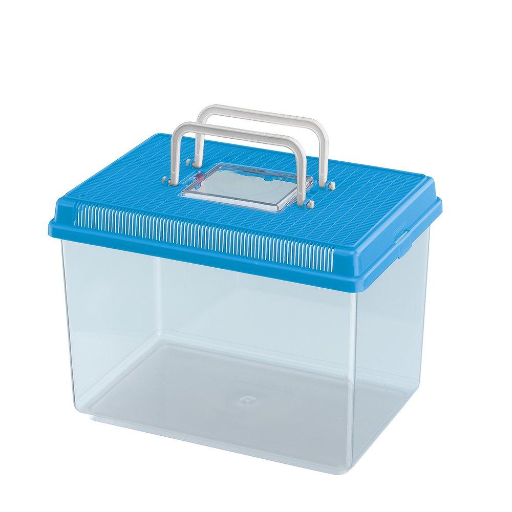 Ferplast Geo Fish Tank, Large, 30 x 20 x 20.3 cm, 6 Liter, bluee