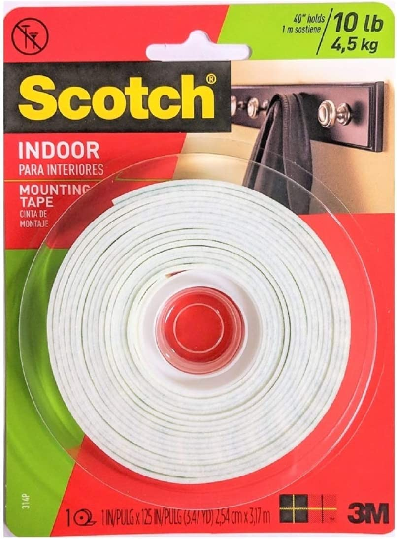 3M Scotch Heavy Duty Mounting Tape (Pack of 3)