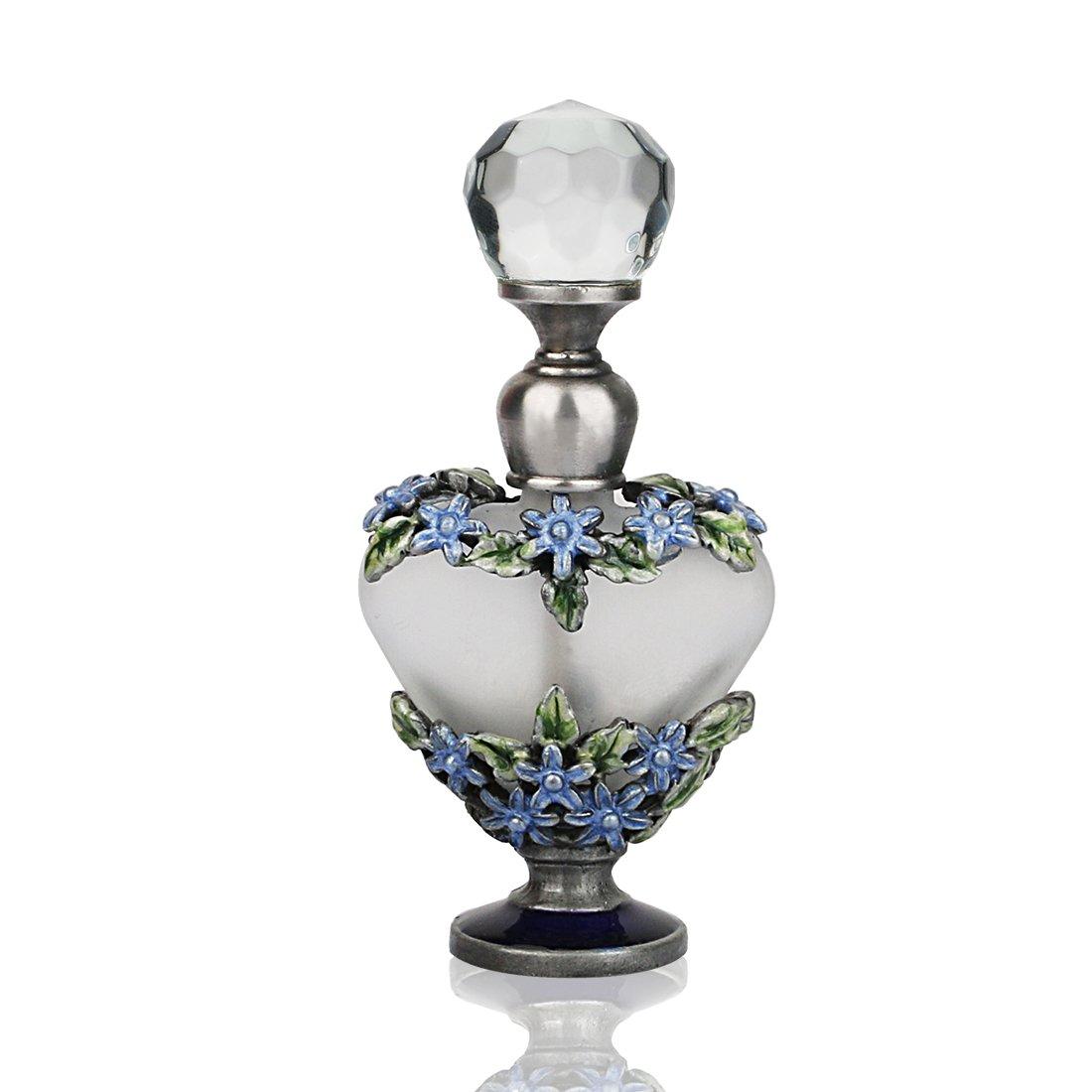 YUFENG 5ml Litter Flower Restoring Ancient Ways Hollow-out Rattan Flower Heart Shape Perfume Bottles Empty Refillable