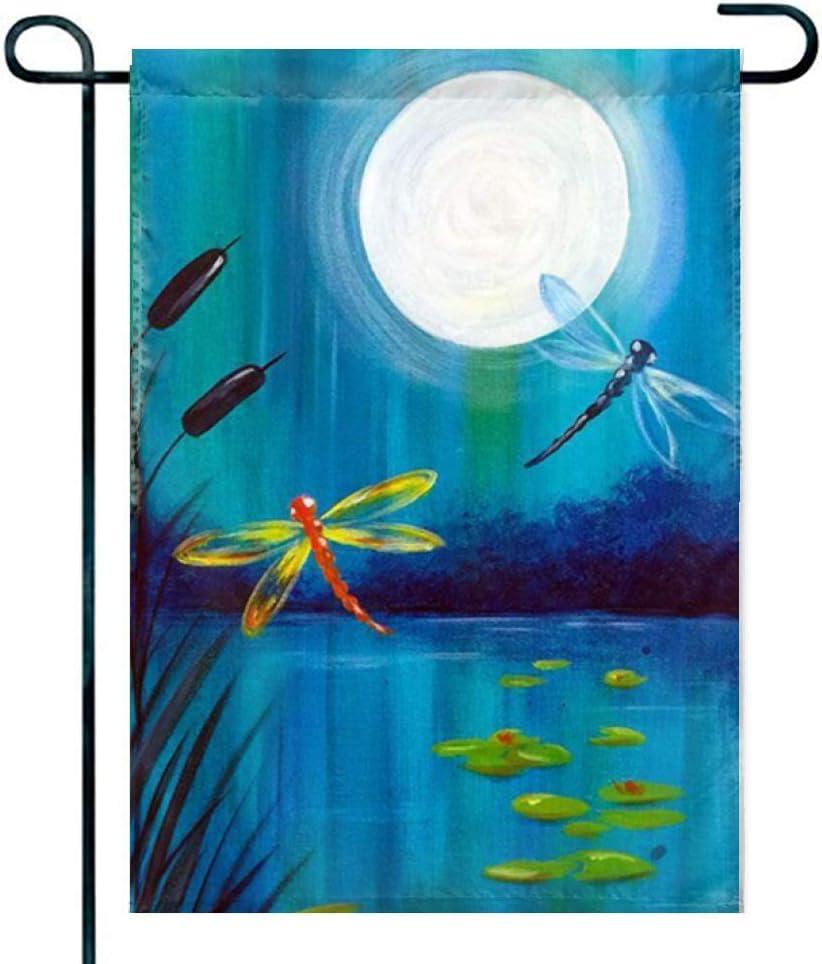 Feddiy Dancing with Dragonflies 1 Decorative Garden Flag – Premium Quality, 12 x 18 Inches