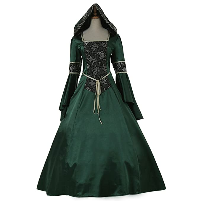 Renaissance Hooded Traveling Dresses | Deluxe Theatrical Quality ...
