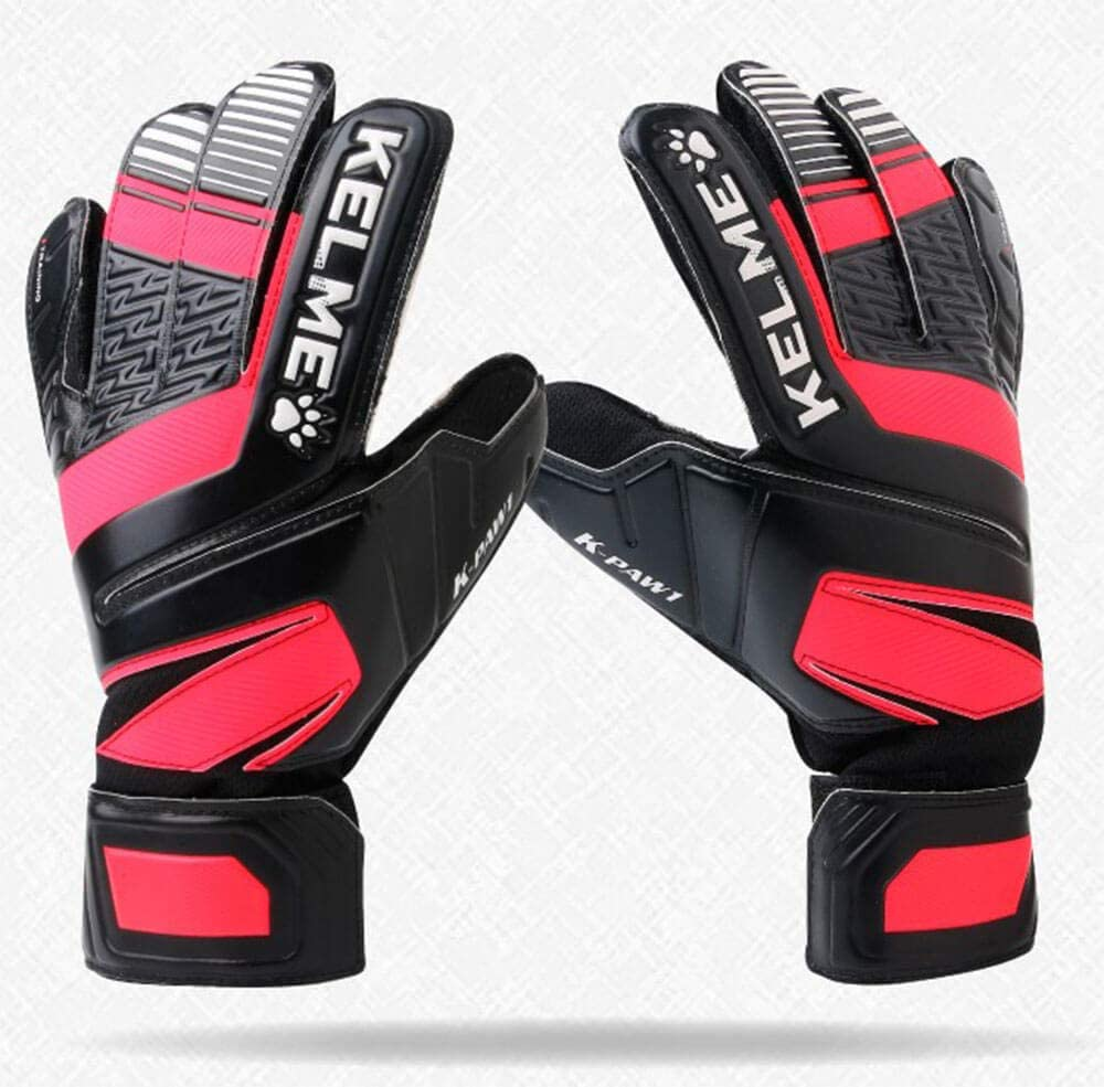 Training Match and Professional Goalie Gloves for Adults and Kids with Finger Protection Indoor and Outdoor KELME Soccer Goalkeeper Gloves