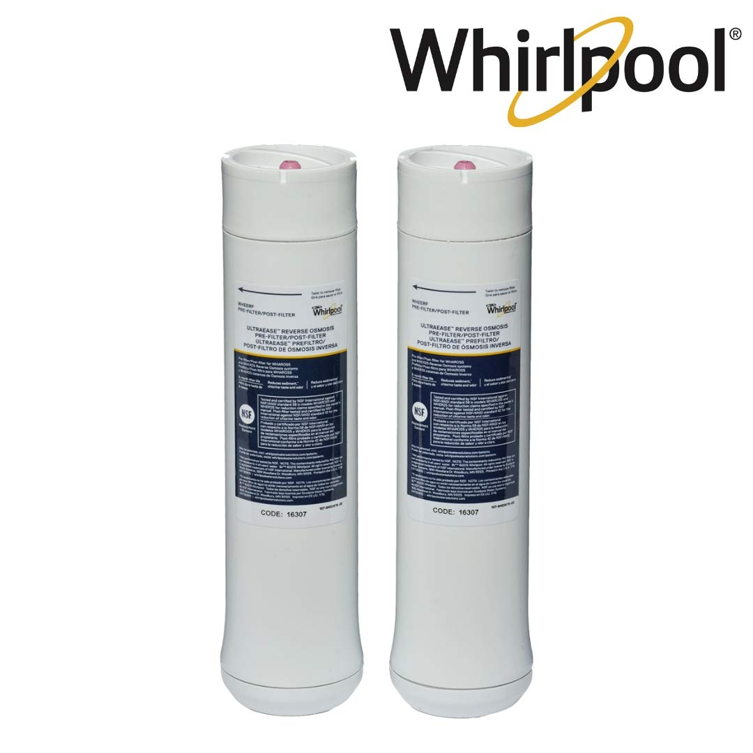 Whirlpool WHEERF Reverse Osmosis Replacement Water Filters| Pre/Post Catridges Fit WHAROS5, WHAPSRO & WHER25 Filtration Systems | 1 Set by Whirlpool