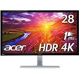 【Amazon.co.jp限定】Acer HDR対応 4Kモニター ディスプレイ ゲーミング RT280KAbmiipx (TN/非光沢/3840x2160/4K/16:9/1ms/HDR10/HDMI2.0×2/DisplayPort v1.2)