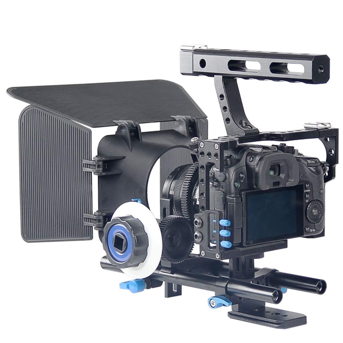 FidgetFidget Stabilizers for DSLR Camera Cage + Follow Focus + Matte Box Kit for Sony A7S A7 A7R A7RII A7SII by FidgetFidget (Image #2)