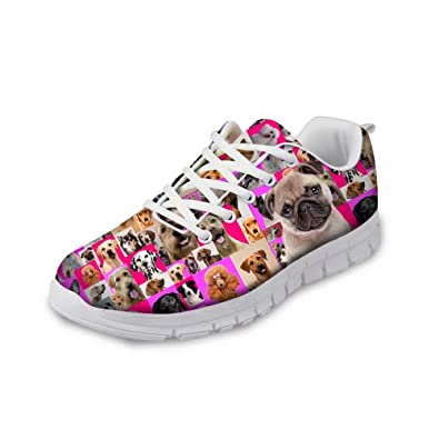 Childrens Trainers Girls Running Sneakers Comfort Zebra Print Lace Up Shoes Size