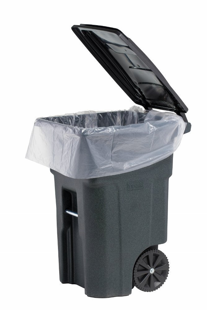 PlasticMill 100 Gallon, Clear, 3 Mil, 67x79, 10 Bags/Case, Ultra Heavy Duty, Garbage Bags/Trash Can Liners/Contractor Bags.