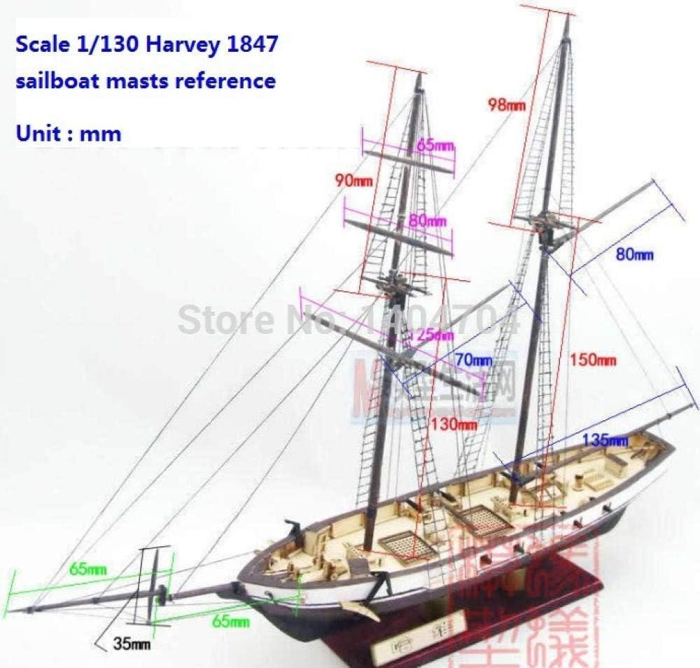 """Harvey 1847 Kit Maquette En Bois 15 /""""Voilier pour Décoration De Bureau Maison"""