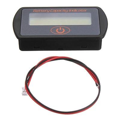 12V / 24V Capacité Pourcentage Voltmètre Batterie Indicateur numérique LCD Volt Testeur pour Le Plomb High-tech