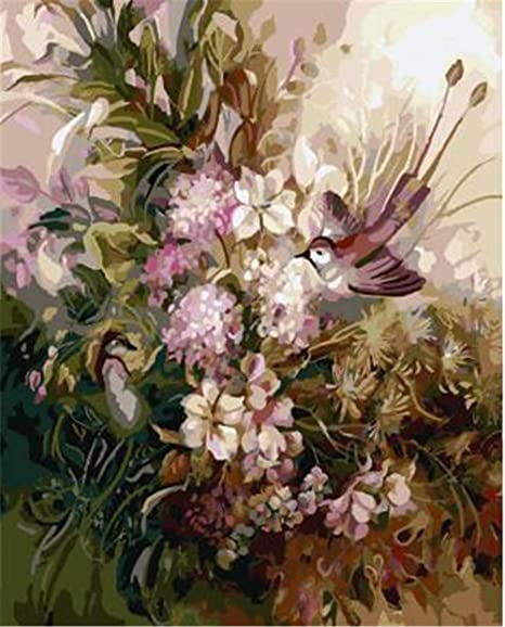 Lily Flowers DIY Painting By Numbers Kits