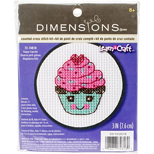 Cross Cupcake Stitch (Dimensions Learn a Craft Happy Cupcake Counted Cross Stitch Kit)