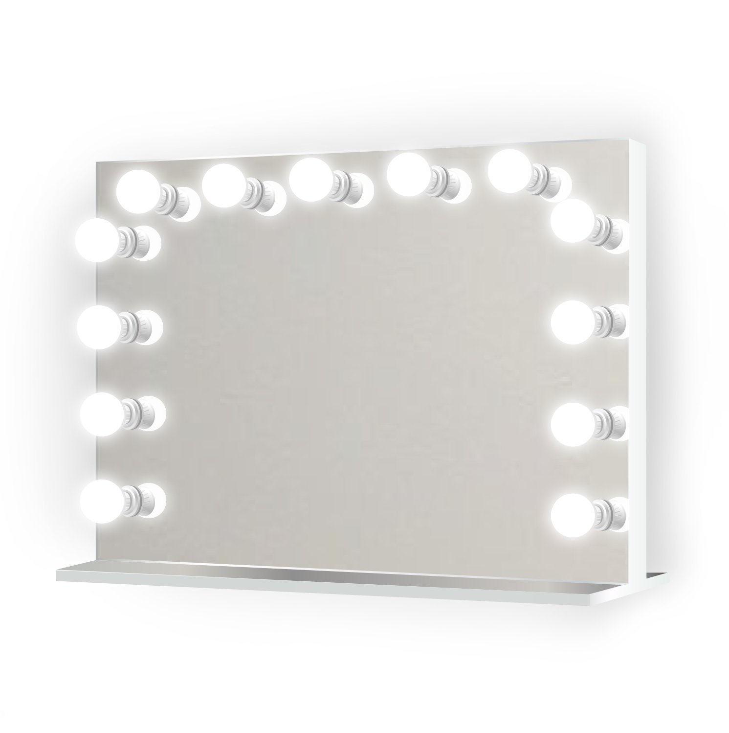 31 inch x 25 inch Lighted Hollywood Vanity Mirror | LED All Mirror - Makeup Mirror | Table Top Or Wall Mount | Plug-in