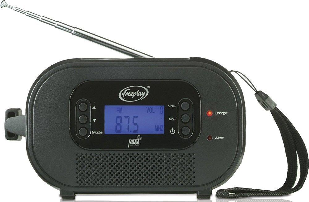 Freeplay Encore Buddy Self-Powered Radio with Flashlight (Black) by Freeplay