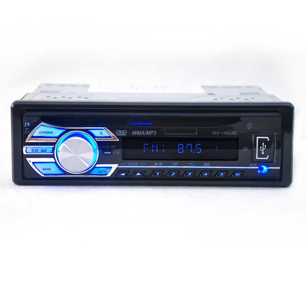 Car CD Player Stereo Headunit CD DVD Player Receiver Radio 1 DIN 12V MP3/USB/SD/AUX/FM/iPod/iPhone by Hengweili
