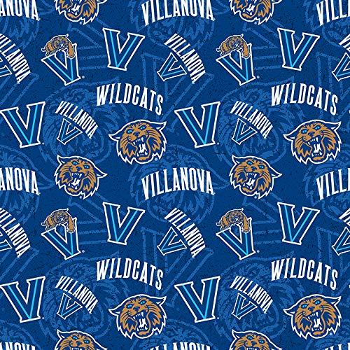 Villanova University Cotton FABRIC-100% Cotton -Villanova Wildcats Fabric Sold by The Yard-Villanova College Cotton Fabric by SYKEL