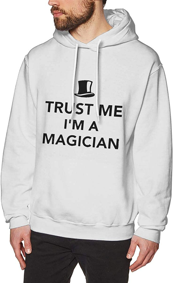 HUTAOPING Trust Me Im Magician Mens Hoodie Fashion Sweater Sweatshirt Fleece