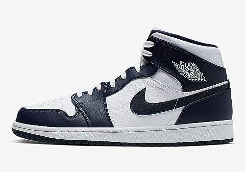 Nike Air Jordan 1 Mid (Gs) Scarpe da Basket Bambini e Ragazzi, Bianco (WhiteMtlc GoldObsidian 174), 39 EU