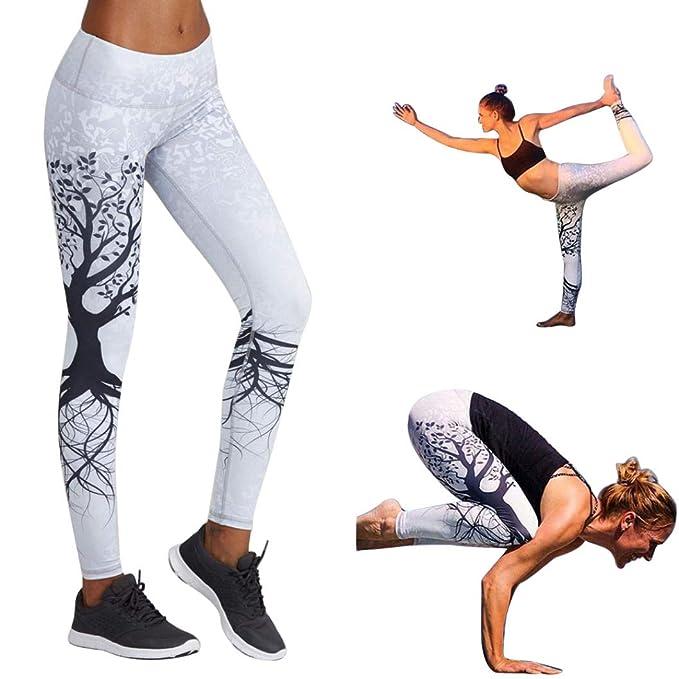 1f78b26d1041 BOOMING Donna Skinny Eleganti Pantaloni Vita Alta Yoga Tinta Unita Anca  Stretch Pants Elastico Fitness Running